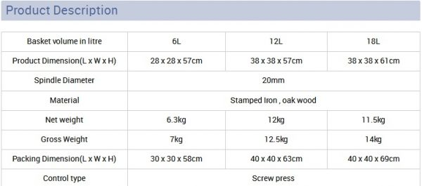 product dimensions and weight