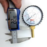 Pressure Gauge: Triple Scale 40PSI
