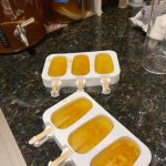 Putting fresh wine in ice cream molds
